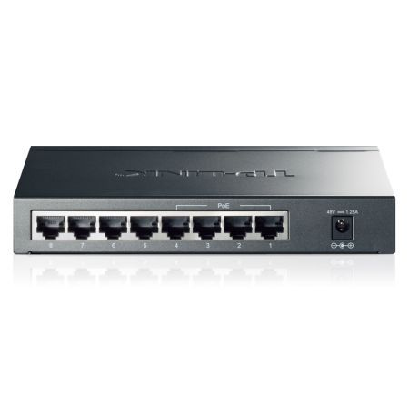TP-LINK (TL-SG1008P) 8-Port Gigabit Unmanaged Desktop Switch, 4-Port PoE, Steel Case